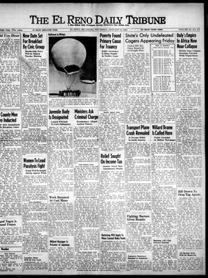 Primary view of object titled 'The El Reno Daily Tribune (El Reno, Okla.), Vol. 51, No. 277, Ed. 1 Thursday, January 21, 1943'.
