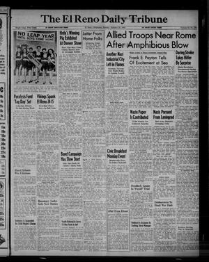 Primary view of object titled 'The El Reno Daily Tribune (El Reno, Okla.), Vol. 52, No. 279, Ed. 1 Sunday, January 23, 1944'.