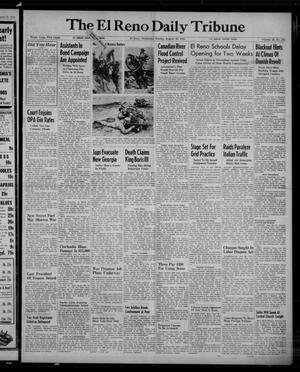Primary view of object titled 'The El Reno Daily Tribune (El Reno, Okla.), Vol. 52, No. 155, Ed. 1 Sunday, August 29, 1943'.