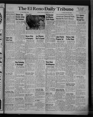 Primary view of object titled 'The El Reno Daily Tribune (El Reno, Okla.), Vol. 53, No. 80, Ed. 1 Thursday, June 1, 1944'.