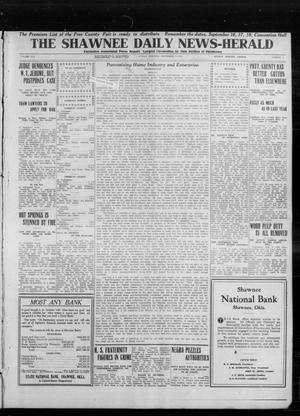 Primary view of object titled 'The Shawnee Daily News-Herald (Shawnee, Okla.), Vol. 19, No. 7, Ed. 1 Sunday, September 7, 1913'.