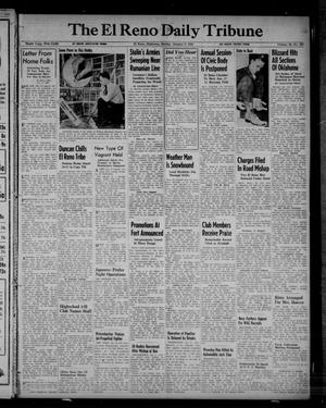 Primary view of object titled 'The El Reno Daily Tribune (El Reno, Okla.), Vol. 52, No. 267, Ed. 1 Sunday, January 9, 1944'.