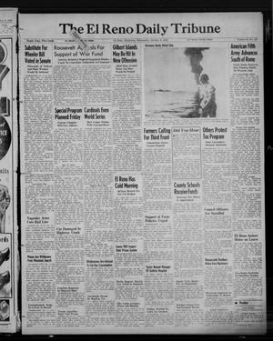 Primary view of object titled 'The El Reno Daily Tribune (El Reno, Okla.), Vol. 52, No. 187, Ed. 1 Wednesday, October 6, 1943'.