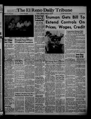Primary view of object titled 'The El Reno Daily Tribune (El Reno, Okla.), Vol. 61, No. 103, Ed. 1 Sunday, June 29, 1952'.
