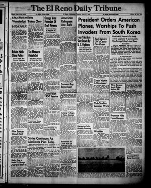 Primary view of object titled 'The El Reno Daily Tribune (El Reno, Okla.), Vol. 59, No. 102, Ed. 1 Tuesday, June 27, 1950'.