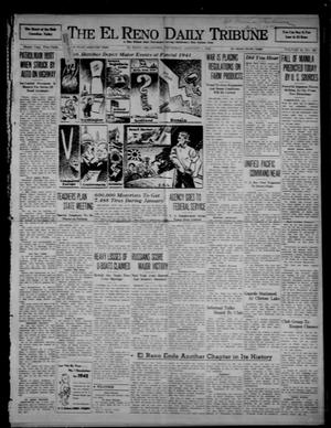 Primary view of object titled 'The El Reno Daily Tribune (El Reno, Okla.), Vol. 50, No. 260, Ed. 1 Thursday, January 1, 1942'.