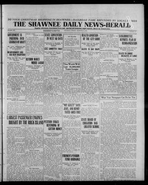 Primary view of object titled 'The Shawnee Daily News-Herald (Shawnee, Okla.), Vol. 19, No. 88, Ed. 1 Wednesday, December 17, 1913'.