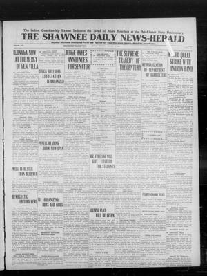 Primary view of object titled 'The Shawnee Daily News-Herald (Shawnee, Okla.), Vol. 19, No. 165, Ed. 1 Sunday, January 11, 1914'.