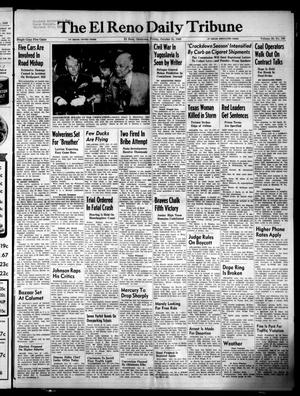 Primary view of object titled 'The El Reno Daily Tribune (El Reno, Okla.), Vol. 58, No. 199, Ed. 1 Friday, October 21, 1949'.