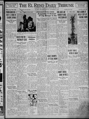 Primary view of object titled 'The El Reno Daily Tribune (El Reno, Okla.), Vol. 48, No. 180, Ed. 1 Sunday, September 24, 1939'.