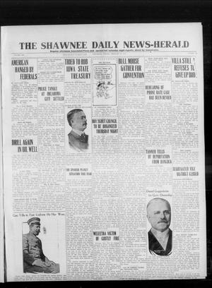 Primary view of object titled 'The Shawnee Daily News-Herald (Shawnee, Okla.), Vol. 19, No. 142, Ed. 1 Wednesday, February 25, 1914'.