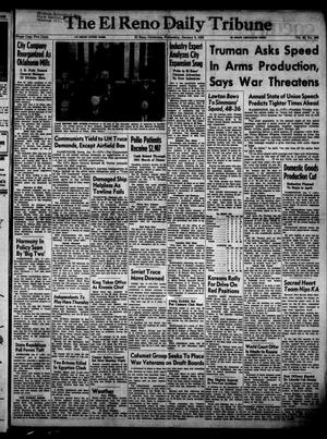Primary view of object titled 'The El Reno Daily Tribune (El Reno, Okla.), Vol. 60, No. 266, Ed. 1 Wednesday, January 9, 1952'.