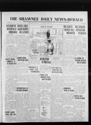 Primary view of object titled 'The Shawnee Daily News-Herald (Shawnee, Okla.), Vol. 19, No. 144, Ed. 1 Friday, February 27, 1914'.