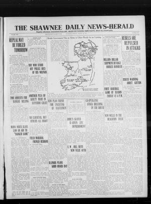 Primary view of object titled 'The Shawnee Daily News-Herald (Shawnee, Okla.), Vol. 19, No. 169, Ed. 1 Thursday, March 26, 1914'.