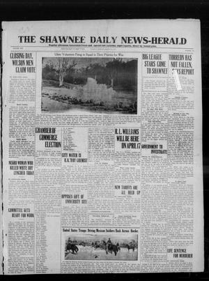 Primary view of object titled 'The Shawnee Daily News-Herald (Shawnee, Okla.), Vol. 19, No. 173, Ed. 1 Tuesday, March 31, 1914'.