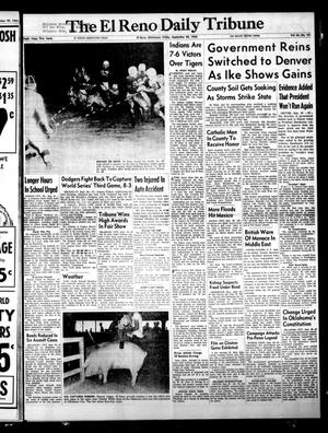 Primary view of object titled 'The El Reno Daily Tribune (El Reno, Okla.), Vol. 64, No. 181, Ed. 1 Friday, September 30, 1955'.