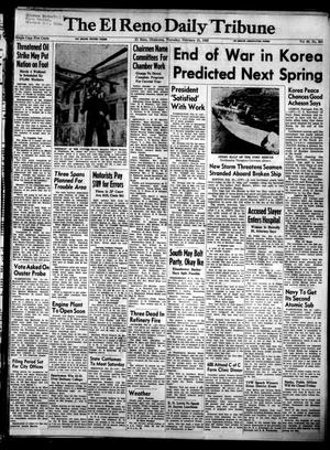 Primary view of object titled 'The El Reno Daily Tribune (El Reno, Okla.), Vol. 60, No. 303, Ed. 1 Thursday, February 21, 1952'.
