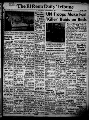 Primary view of object titled 'The El Reno Daily Tribune (El Reno, Okla.), Vol. 60, No. 300, Ed. 1 Monday, February 18, 1952'.