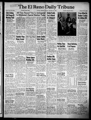 Primary view of object titled 'The El Reno Daily Tribune (El Reno, Okla.), Vol. 58, No. 178, Ed. 1 Tuesday, September 27, 1949'.