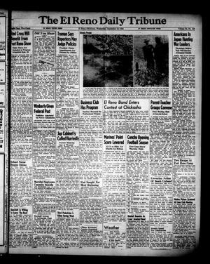 Primary view of object titled 'The El Reno Daily Tribune (El Reno, Okla.), Vol. 54, No. 166, Ed. 1 Wednesday, September 12, 1945'.