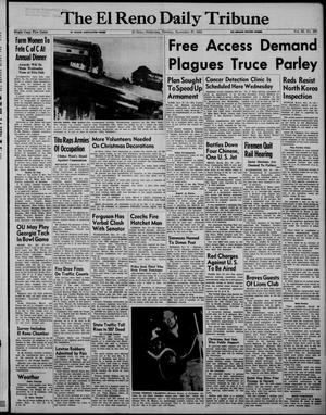 Primary view of object titled 'The El Reno Daily Tribune (El Reno, Okla.), Vol. 60, No. 230, Ed. 1 Tuesday, November 27, 1951'.