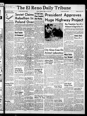 Primary view of object titled 'The El Reno Daily Tribune (El Reno, Okla.), Vol. 64, No. 414, Ed. 1 Friday, June 29, 1956'.