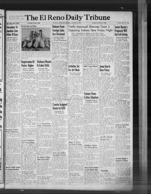 Primary view of object titled 'The El Reno Daily Tribune (El Reno, Okla.), Vol. 55, No. 209, Ed. 1 Thursday, October 31, 1946'.