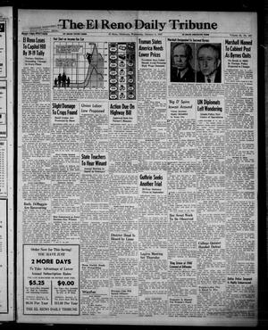 Primary view of object titled 'The El Reno Daily Tribune (El Reno, Okla.), Vol. 55, No. 267, Ed. 1 Wednesday, January 8, 1947'.