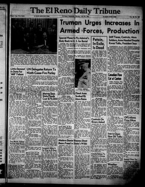 Primary view of object titled 'The El Reno Daily Tribune (El Reno, Okla.), Vol. 60, No. 122, Ed. 1 Monday, July 23, 1951'.