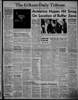 Primary view of object titled 'The El Reno Daily Tribune (El Reno, Okla.), Vol. 60, No. 204, Ed. 1 Sunday, October 28, 1951'.