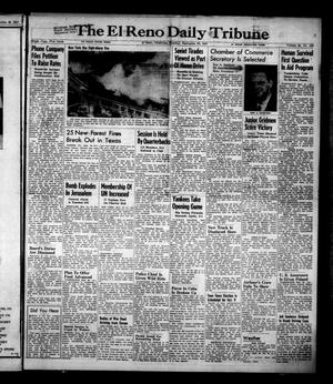 Primary view of object titled 'The El Reno Daily Tribune (El Reno, Okla.), Vol. 56, No. 180, Ed. 1 Tuesday, September 30, 1947'.