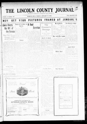 Primary view of object titled 'The Lincoln County Journal (Stroud, Okla.), Vol. 4, No. 45, Ed. 1 Friday, January 21, 1910'.