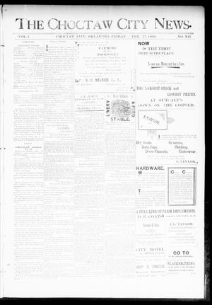 Primary view of object titled 'The Choctaw City News. (Choctaw City, Okla.), Vol. 1, No. 12, Ed. 1 Friday, April 27, 1894'.