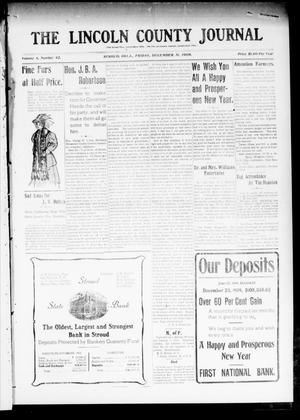 Primary view of object titled 'The Lincoln County Journal (Stroud, Okla.), Vol. 4, No. 42, Ed. 1 Friday, December 31, 1909'.