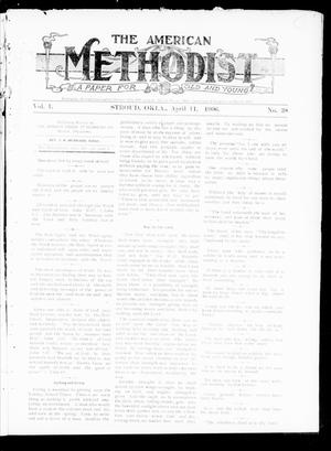 Primary view of object titled 'The American Methodist (Stroud, Okla.), Vol. 1, No. 38, Ed. 1 Wednesday, April 11, 1906'.