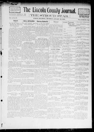 Primary view of object titled 'The Lincoln County Journal. The Stroud Star. (Stroud, Okla.), Vol. 3, No. 47, Ed. 1 Thursday, January 28, 1909'.