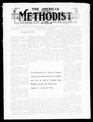 Primary view of object titled 'The American Methodist (Stroud, Okla.), Vol. 2, No. 2, Ed. 1 Wednesday, August 1, 1906'.