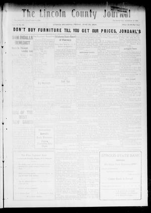 Primary view of object titled 'The Lincoln County Journal (Stroud, Okla.), Vol. 4, No. 16, Ed. 1 Friday, June 25, 1909'.