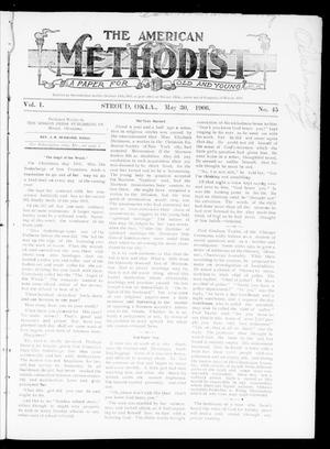 Primary view of object titled 'The American Methodist (Stroud, Okla.), Vol. 1, No. 45, Ed. 1 Wednesday, May 30, 1906'.