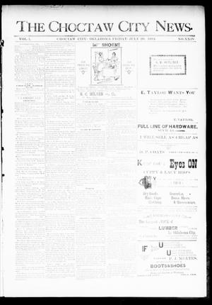 Primary view of object titled 'The Choctaw City News. (Choctaw City, Okla.), Vol. 1, No. 24, Ed. 1 Friday, July 20, 1894'.
