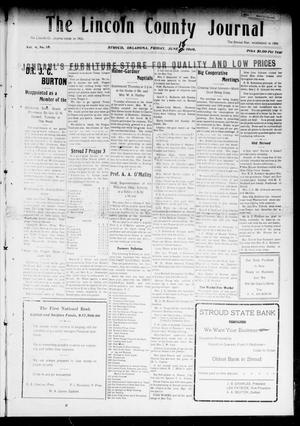 Primary view of object titled 'The Lincoln County Journal (Stroud, Okla.), Vol. 4, No. 15, Ed. 1 Friday, June 18, 1909'.