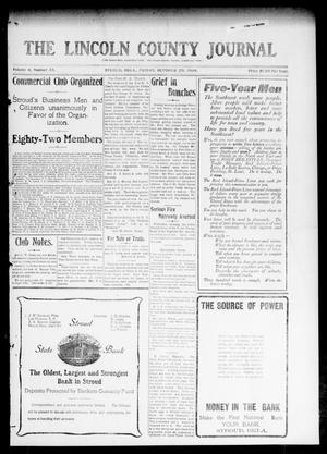 Primary view of object titled 'The Lincoln County Journal (Stroud, Okla.), Vol. 4, No. 33, Ed. 1 Friday, October 29, 1909'.