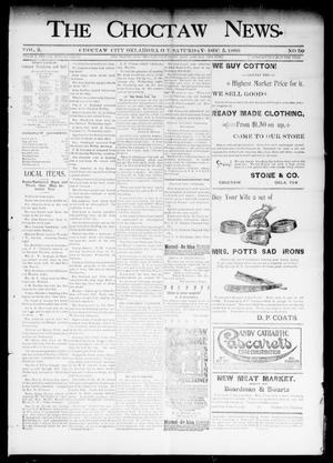 Primary view of object titled 'The Choctaw News. (Choctaw City, Okla. Terr.), Vol. 3, No. 50, Ed. 1 Saturday, December 5, 1896'.