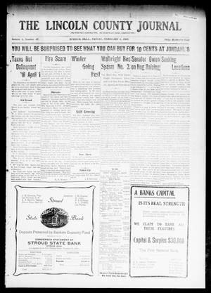 Primary view of object titled 'The Lincoln County Journal (Stroud, Okla.), Vol. 4, No. 47, Ed. 1 Friday, February 4, 1910'.
