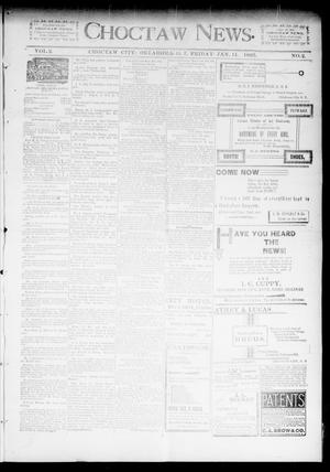 Primary view of object titled 'Choctaw News. (Choctaw City, Okla. Terr.), Vol. 2, No. 2, Ed. 1 Friday, January 11, 1895'.
