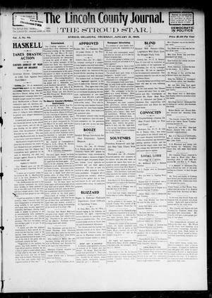 Primary view of object titled 'The Lincoln County Journal. The Stroud Star. (Stroud, Okla.), Vol. 3, No. 46, Ed. 1 Thursday, January 21, 1909'.