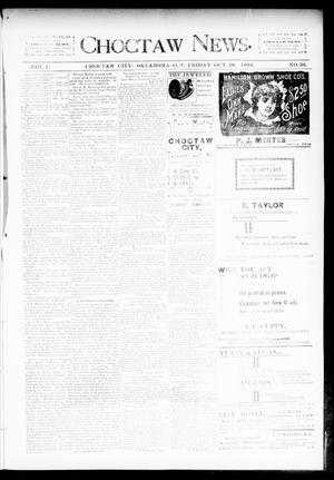 Primary view of object titled 'Choctaw News. (Choctaw City, Okla. Terr.), Vol. 1, No. 36, Ed. 1 Friday, October 19, 1894'.
