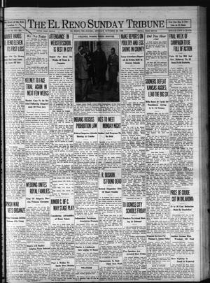 Primary view of The El Reno Sunday Tribune (El Reno, Okla.), Vol. 39, No. 228, Ed. 1 Sunday, October 26, 1930