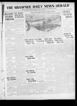 Primary view of object titled 'The Shawnee Daily News-Herald (Shawnee, Okla.), Vol. 21, No. 341, Ed. 1 Thursday, July 20, 1916'.