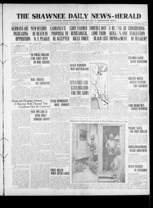 Primary view of object titled 'The Shawnee Daily News-Herald (Shawnee, Okla.), Vol. 21, No. 343, Ed. 1 Sunday, July 23, 1916'.